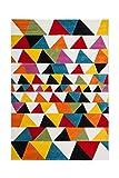Teppich Wohnzimmer Carpet Geometrie Design Guayama 244 Rug Triangle Muster Polypropylen 160x230 cm Mehrfarbig/Teppiche günstig online kaufen