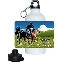 Lea Striefchen/® Trinkflasche Motiv mit Pferd und Name Wild Thing