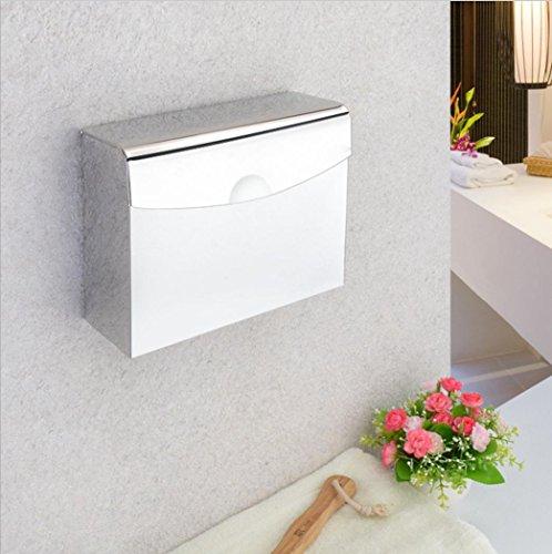 Tissue Vassoio rotolo bagno cassa WC di carta porta asciugamani di carta igienica scatola impermeabile, in acciaio inox , k30/0.7 thick