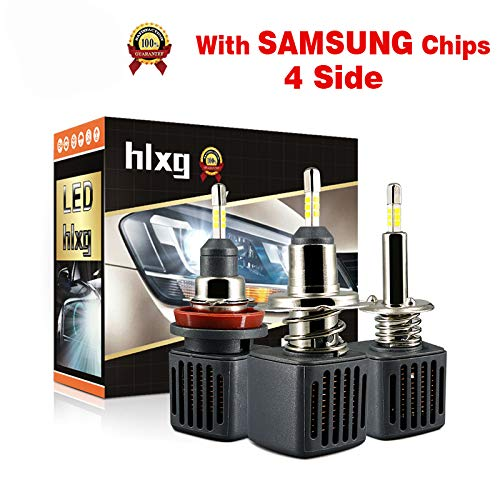 2pcs 4 lati mini H4 H7 H1 LED lampadine auto faro Kit 40W 10000LM SAMSUNG CHIPS H8 H11 9006 HB4 9005 HB3 12V led Auto lam