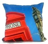 CUSHIONMANIA 3D Fotografien Kissen Oder Kissen Vintage Tier London Box Weichen Stoff (Kissenbezug, Phone Box)