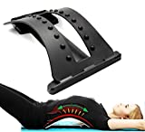 #7: Inditradition Magic Lumber Back Support | Back Stretcher For Spinal Pain Relief | 3 Level Resistance (Black)
