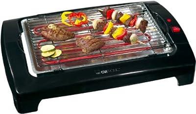 Barbeque Tisch Grill im Stilvollen Design zum Grillen ohne Feuer und Rauch inkl. Cool Touch Gehäuse und Metall Auffangschale zum Leichten Reinigen