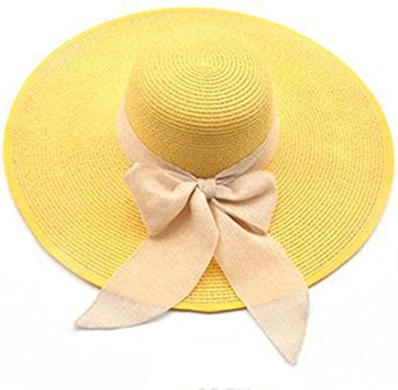 WY-scarf Spiaggia Cappello di Paglia Pieghevole Cappello Arco Cappello  Pieghevole da Sole Seaside Holiday Grande Cappello Cappello... Parent 18e122 3cb268e949bf
