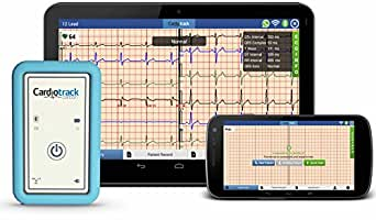 Cardiotrack Carbon - Wireless 12 Lead Portable ECG Monitor on Mobile and Cloud with Real Time Monitoring
