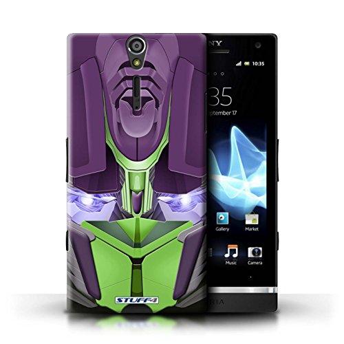 Kobalt® Imprimé Etui / Coque pour Sony Xperia S/LT26i / Bumble-Bot Vert conception / Série Robots Opta-Bot Vert