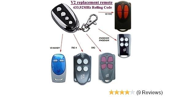 V2 TRC-4 TRC4 TRC Replacement Remote Control Garage Gate Transmitter Fob