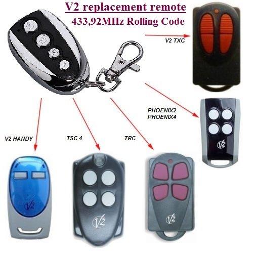 V2 TXC2, TXC4, HANDY2, HANDY4 compatible mando destancia