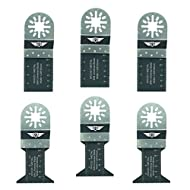 6x topstools unk6bmx Bi-Metall Klingen für Bosch, Fein Multimaster, Multitalent, Makita, Milwaukee, Einhell, ergotools, Hitachi, Parkside, Ryobi, Worx, Workzone Multitool Multi Tool Zubehör