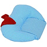 Premium Quality Mustard Seeds Baby Sleeping Pillow,New Born Baby Cotton Soft Fabric Musterd Seeds Rai Pillow For Baby Head Shaping Takiya Detachable Mustard / Rai Seed Pouch For Easy Washing By GoodLuck A To Z Born Baby Items™ (Sky Blue)