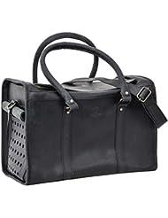 """Gusti Cuir studio """"Belka"""" sac de transport pour animaux bagage de transport pour animaux de compagnie homme femme cuir de buffle noir 2D2-26-80"""