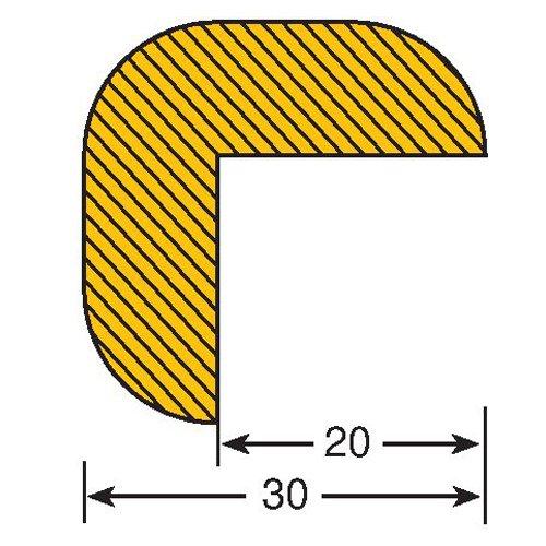 Praktische Panda 422.24.979.5422.24.979Traffic Line Auswirkungen Kantenschutz, magnetisch Armatur, rechts Winkel 30/30, Länge 1000mm, Gelb/Schwarz (5Stück)