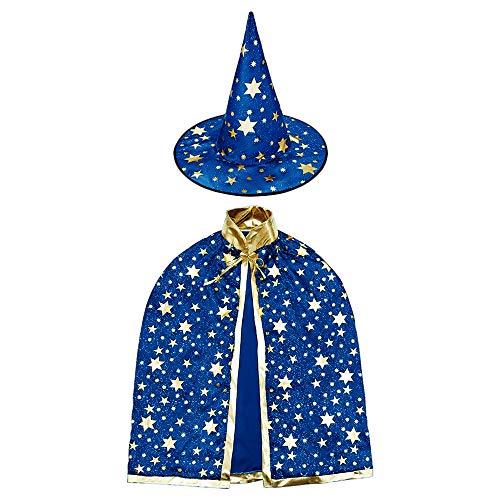 HomeMall Kinder Halloween Kostüm, Hexe Zauberer Umhang mit Hut für Kinder (Magie (Baby Bruder Und Schwester Kostüm)
