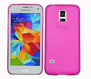 HOKO Ultra Thin Semi Transparent Hard Case Back Cover for Samsung Galaxy S5 mini Duos (Pink)