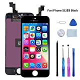 Beefix Schermo per iPhone SE 5S Nero 4.0' Display LCD Compatibile con iPhone SE 5S Digitizer con Kit di Utensili Gratuiti
