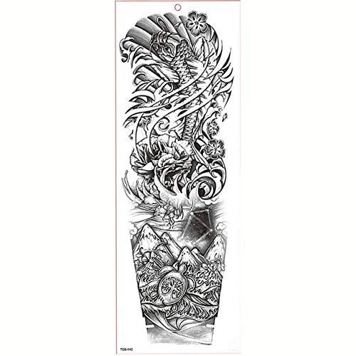 7pcs Grande tatuaggio Tattoo Tattoo braccio manicotti del tatuaggio impermeabile