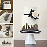 New York Skyline Kuchen Schablone Kuchen Seitenschablone Fondant Kuchen schmücken Schimmel Wand Dekorieren Schablone Bakeware Gebäck Werkzeug ST-418