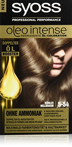 Syoss Oleo Intense Haarfarbe, 5-54 Kühles Hellbraun, 3er Pack (3 x 115 ml)