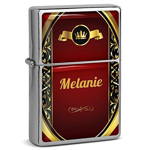 PhotoFancy® - Sturmfeuerzeug Set mit Namen Melanie - Feuerzeug mit Design Wappen 1 - Benzinfeuerzeug, Sturm-Feuerzeug 6