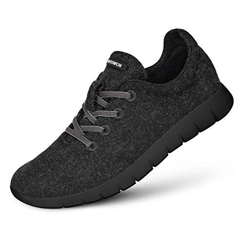 Giesswein Woll-Sneaker Merino Runners Women anthrazit | 39 - Atmungsaktive Sneaker für Damen aus 100% Merino Wolle, Sportliche Schuhe, Halbschuh, Freizeitschuh, Damenschuhe -