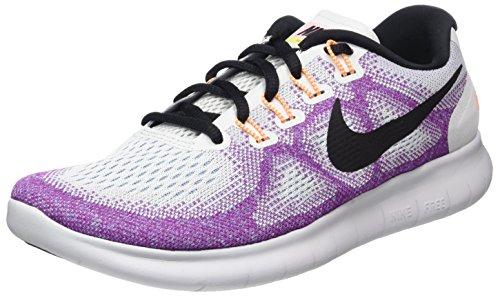 Nike Damen Free Rn 2017 Laufschuhe, Mehrfarbig (Off White/Black-Hot Punch-Chlorine Blue), 38 EU
