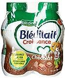 Blédina Blédilait - Lait bébé Croissance Chocolat de 10 mois à 3 ans 4 x 500 ml