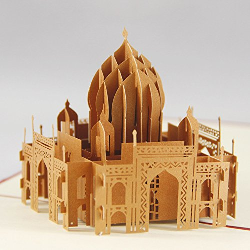 uniqueplus-taj-mahal-india-creative-3d-pop-up-greeting-kirigami-gift-cards-for-souvenir-anniversary-