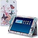 kwmobile Funda para Huawei MediaPad T1 8.0 Honor T1 - Case delgado para tablet con soporte - Smart Cover slim para tableta Diseño mariposas hippies en multicolor rosa fucsia blanco