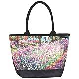 VON LILIENFELD Tasche Damen Einkaufstasche Shopper Bedruckt Motiv Kunst Claude Monet: Der Garten