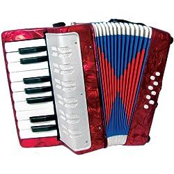 Scarlatti - Acordeón infantil, color rojo