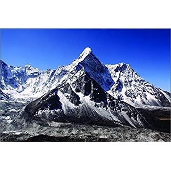 Himalayan mountains blue skies over mount Everest Poster Print X1506