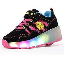 Meurry Niños Unisex LED Luz Parpadea Ruedas Zapatillas Auto-párrafo Roller Zapatos Patines Deportes Zapatos Correr Para Niños Navidad Halloween Regalo
