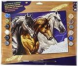 L'Art et la Manière Peinture au numéro motif Cavalcade 30 x 40 cm Couleurs Assorties