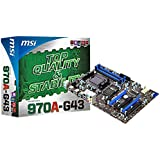 MSI 970A-G43 AMD 970 ATX Motherboard (PCI-E, Socket AM3+)