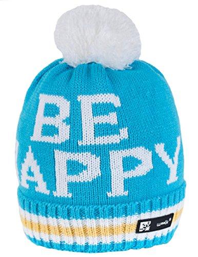 Wollig Wurm Winter Happy Style Beanie Mütze mit Ponpon Damen Herren HAT HATS SKI Snowboard Morefazltd (TM) (Happy 71)