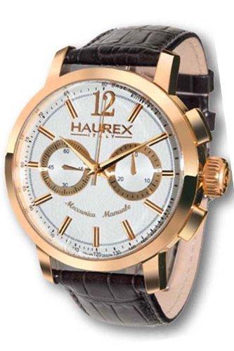 Haurex Italy - CR330USH - Montre Homme - Mécanique - Chronographe - Bracelet cuir noir