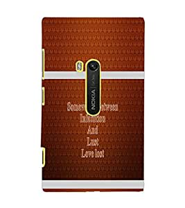 PrintDhaba Quote D-1336 Back Case Cover for NOKIA LUMIA 920 (Multi-Coloured)