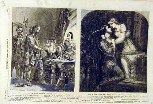 Mary-Königin Schottische Abdankung 1855 Johnston Weinert Romeo