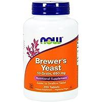 Now Foods Bierhefe Tabletten (Brewers Yeast Tablets) - 650mg x200tabs preisvergleich bei billige-tabletten.eu