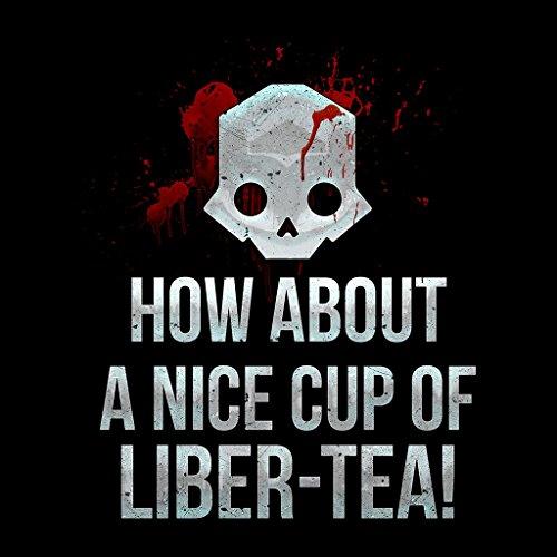 Nice Cup Of Liber Tea Helldivers Women's Hooded Sweatshirt Black