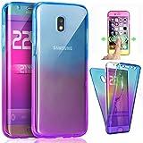 ZHXMALL Coque Samsung Galaxy J7 2017 (J730, 360 Degrés Cover [Avant et Arrière...