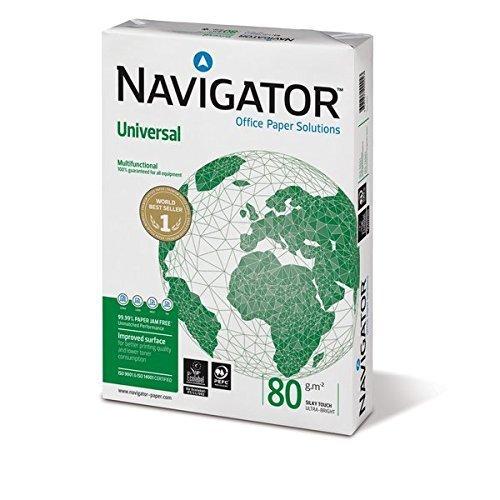 Confezione da 10 risme navigator universale a4 bianco 80 grammi / mq (10 x 500 fogli - inh 5000 fogli)