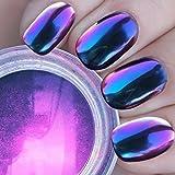 Ushion Chrome Effect Powder,Polvere Effetto Specchio Nail Art Camaleonte Colore Cambiando Polveri Disegni Per Unghie