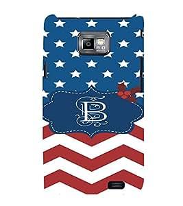 EPICCASE Letter B Mobile Back Case Cover For Samsung Galaxy S2 (Designer Case)
