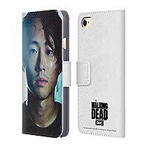 Officiel AMC The Walking Dead Glenn Personnages Étui Coque De Livre En Cuir Pour Apple iPhone 7