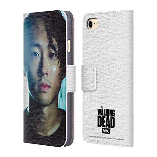Officiel AMC The Walking Dead Glenn Personnages Étui Coque De Livre En Cuir Pour Apple iPhone 7, Coques iphone