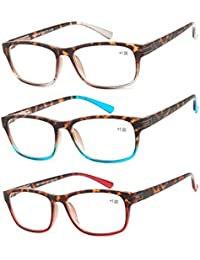 93cf0b931cd9 Reading Glasses 3 Pair Great Value Stylish Readers Fashion Men and Women  Glasses for Reading
