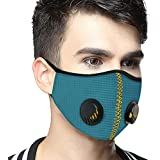 SanNap N95 Anti Pollution Face Mask, Reusable & Washable With Twin Breathing Valves, Teal