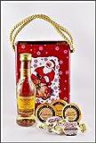 Glenmorangie Original Single Malt Whisky 5cl mit DreiMeister Edel Schokoladen & Whisky Fudge in Weihnachtstasche aus Blech, kostenloser Versand