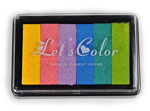 Preisvergleich Produktbild Mehrfarbig Stempelkissen Fingerabdrücke–horsky ungiftig Stamping DIY Creative Werkzeug für Kinder